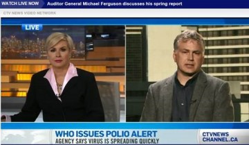 Richard Lester provides commentary for Polio crisis on CTV news