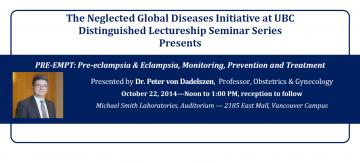 NGDI Distinguished Lectureship Seminar featuring Dr. Peter von Dadelszen